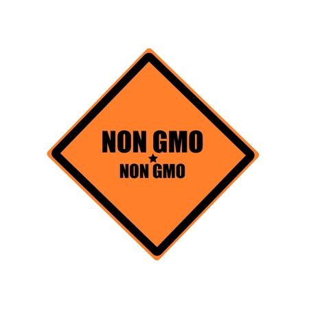 non: Non gmo black stamp text on orange background Stock Photo