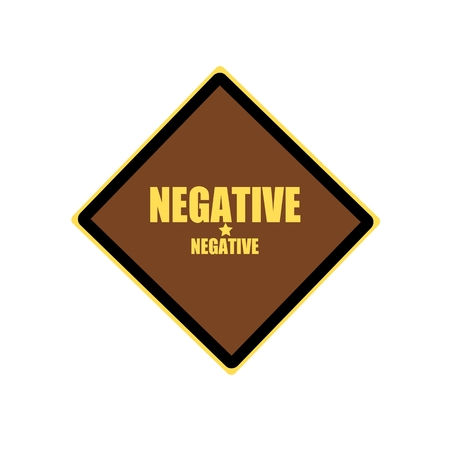 unaccepted: Negative yellow stamp text on brown background