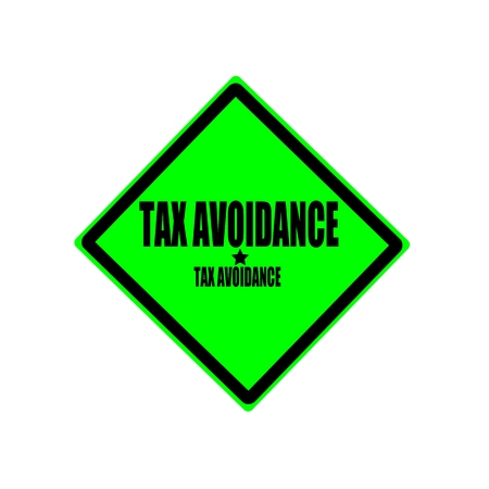tariff: TAX AVOIDANCE black stamp text on green background Stock Photo
