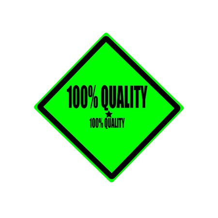 real leader: 100 percent quality black stamp text on green background Stock Photo