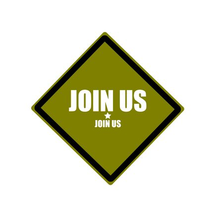 advertise with us: join us white stamp text on green background