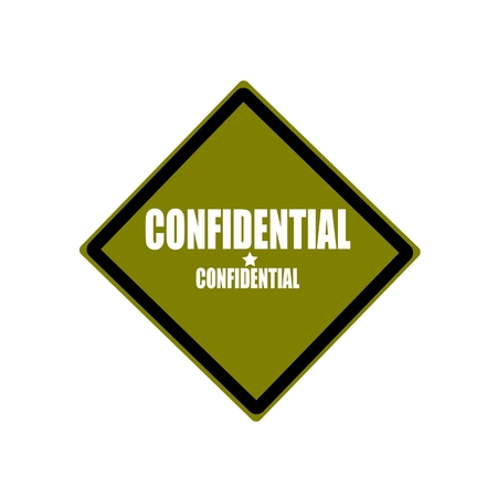 confidentiality: Confidential white stamp text on green background
