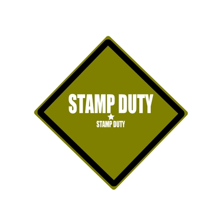duty: STAMP DUTY white stamp text on green background