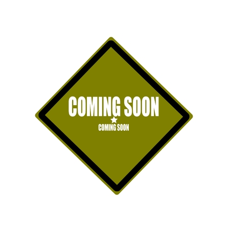 proclaim: coming soon white stamp text on green background Stock Photo