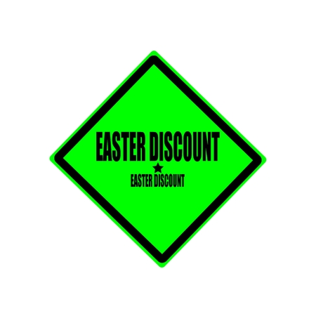 abatement: Easter discount black stamp text on green background Stock Photo