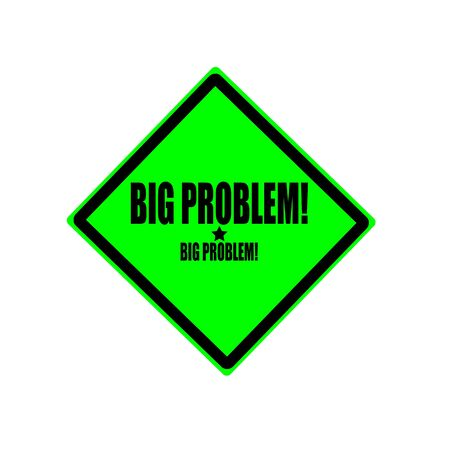 traumatic: Big problem black stamp text on green background Stock Photo