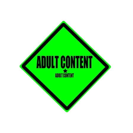 pornography: Adult content black stamp text on green background