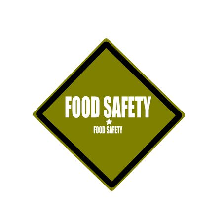edibles: Food safety white stamp text on green background