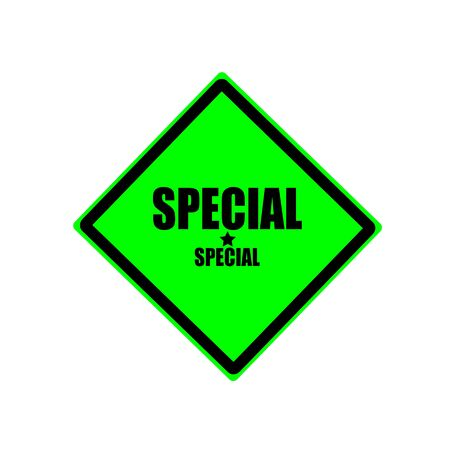 rarity: Special black stamp text on green background