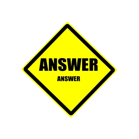 complete solution: Answer black stamp text on yellow background Stock Photo