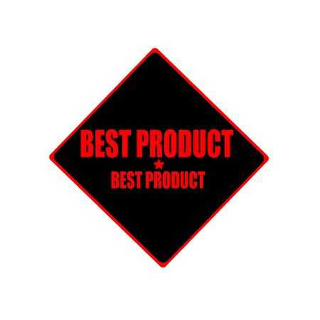 best product: best product red stamp text on black background Stock Photo