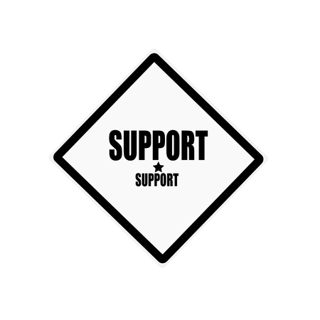 endorsement: Support black stamp text on white background