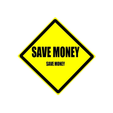 bring: Save money black stamp text on yellow background