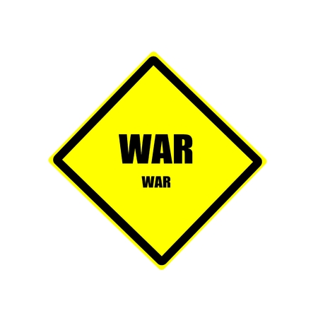 controversy: War black stamp text on yellow background Stock Photo