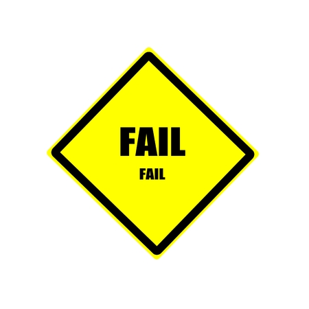 returned: FAIL black stamp text on yellow background
