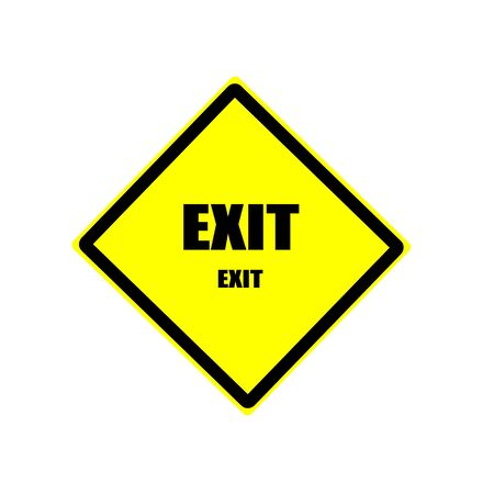 exiting: EXIT black stamp text on yellow backgroud Stock Photo