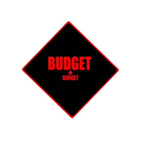 deficit target: Budget red stamp text on black background