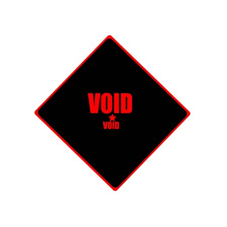 the void: void  red stamp text on black background Stock Photo