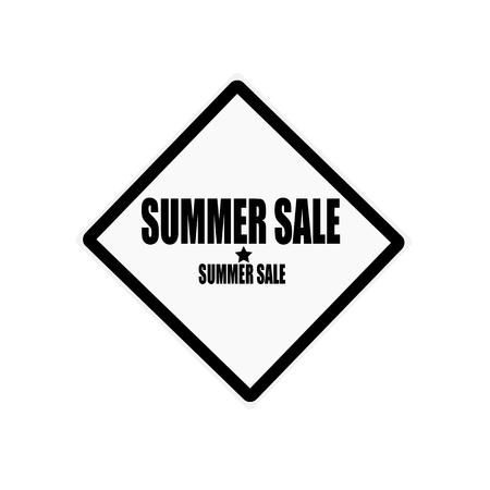 treachery: Summer sale black stamp text on white background