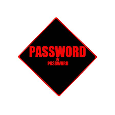 Password red stamp text on black background photo