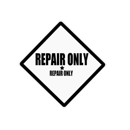 retrieval: Repair black stamp text on white background