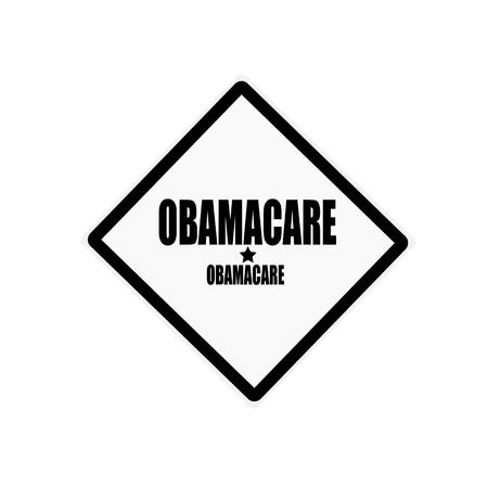 obama care: OBAMACARE black stamp text on white background