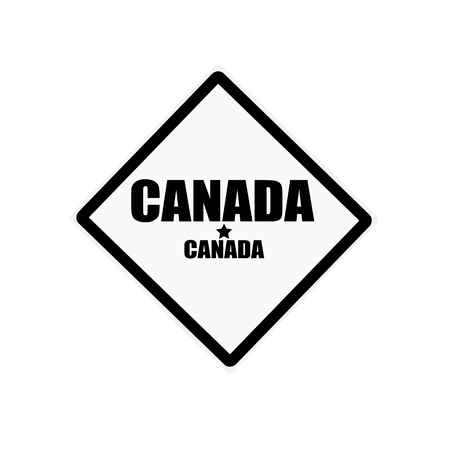 canada stamp: CANADA black stamp text on white background