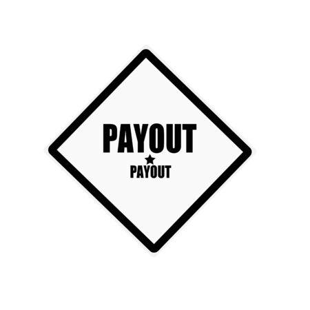 payout: Texto Pago sello negro sobre fondo blanco