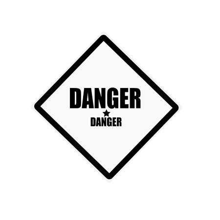 hazardous area sign: DANGER black stamp text on white background