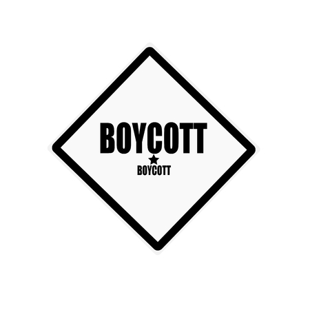 boycott: Boycott black stamp text on white background