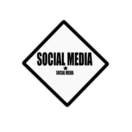 Social media black stamp text on white background photo