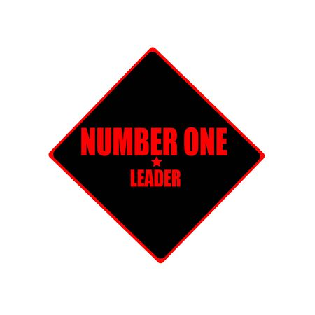 adulation: number one leader red stamp text on black background Stock Photo