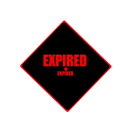 expired: expired red stamp text on black background