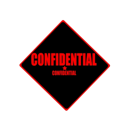 confidentiality: Confidential red stamp text on black background