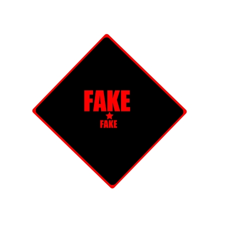 counterfeit: Fake red stamp text on black background