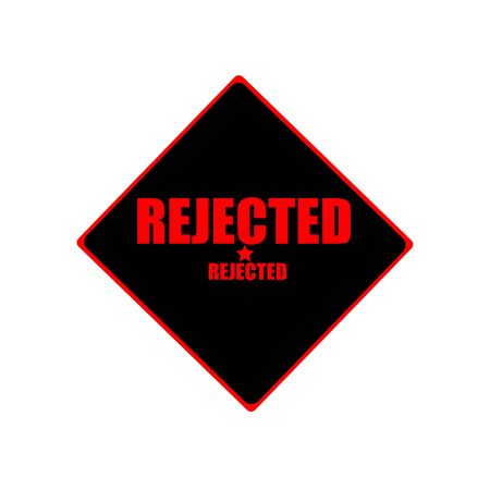 acceptation: rejected red stamp text on black background Stock Photo