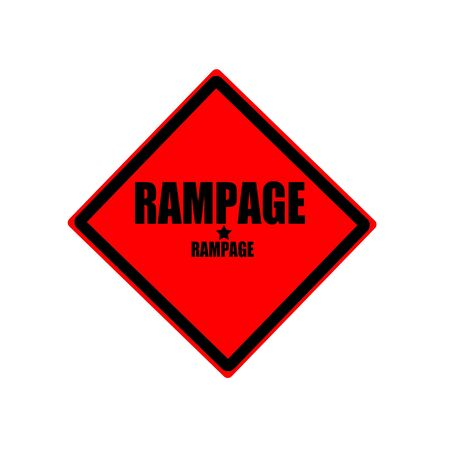 outrage: Rampage black stamp text on red background Stock Photo