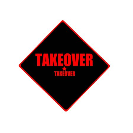 takeover: Takeover red stamp text on black background