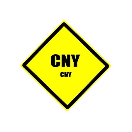 CNY black stamp text on yellow background photo