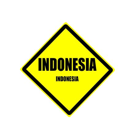 oceana: Indonesia black stamp text on yellow background