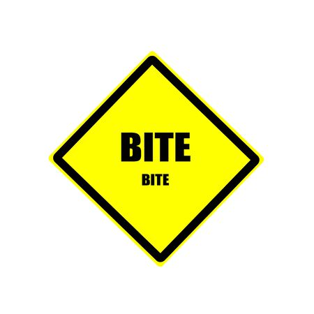 bite: Bite black stamp text on yellow background