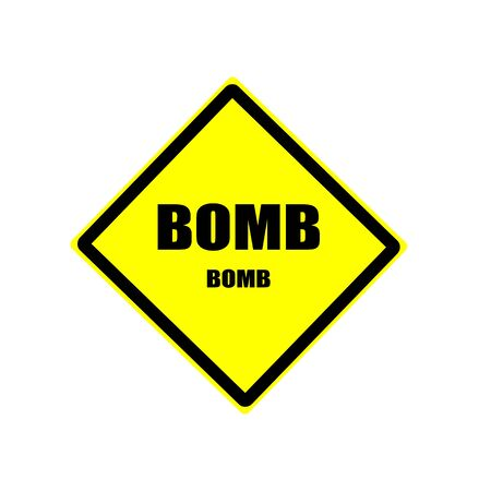 contaminated: BOMB black stamp text on yellow backgroud