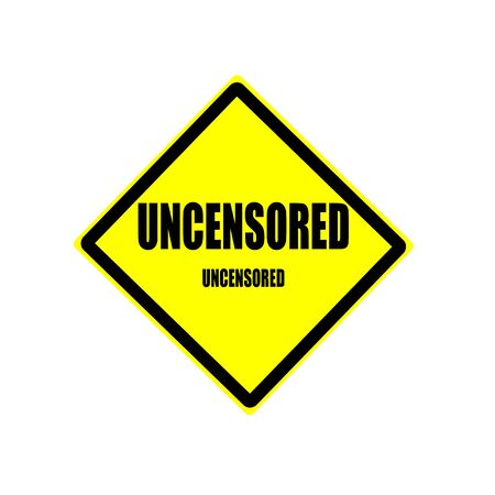 explicit: Uncensored black stamp text on yellow backgroud