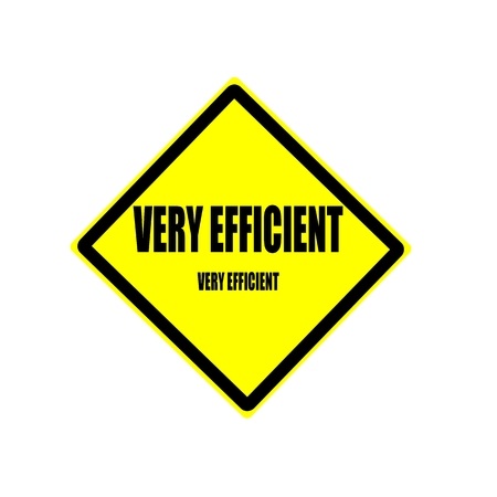 greatly: Very efficient black stamp text on yellow backgroud Stock Photo