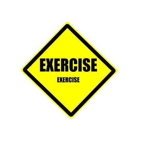 uni: Exercise black stamp text on yellow backgroud Stock Photo
