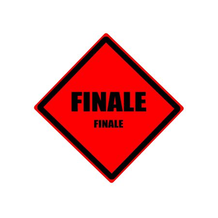 conclusive: Finale black stamp text on red background