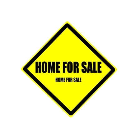 surety: Home for sale  black stamp text on yellow background