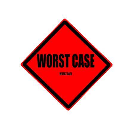 poronienie: Najgorszy przypadek czarny znaczek tekst na czerwonym tle