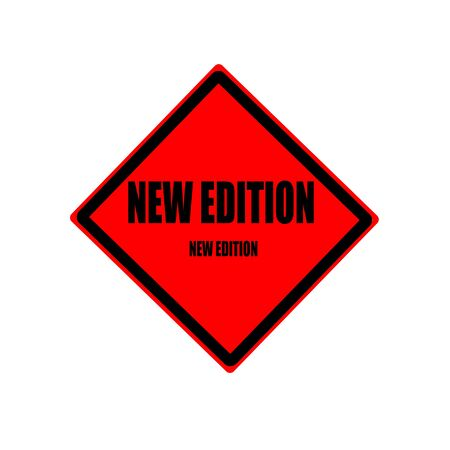 revised: New edition black stamp text on red background
