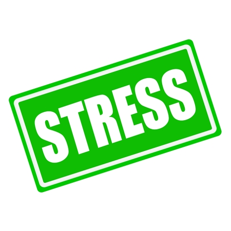 emotional pain: Stress white stamp text on green background